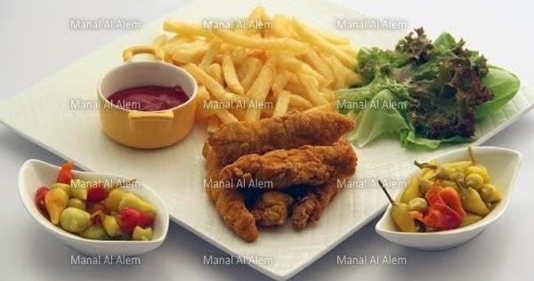 أصابع الدجاج المقرمشة من مطبخ منال العالم