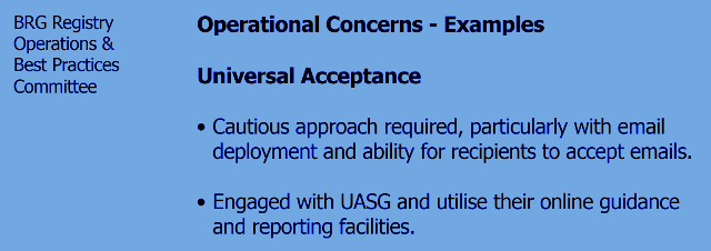 "graphic ""dotBrands Operational Concerns - Universal Acceptance - email - UASG"""