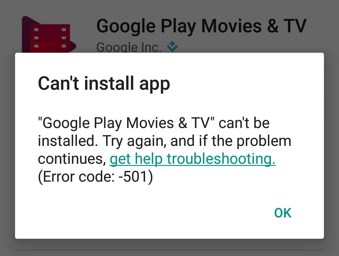 How to fix error 501 on Google Play Store during download or