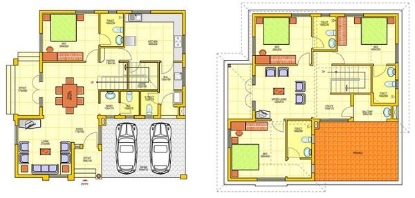 Setiap orang tentu mempunyai selera masing Gambar Denah Rumah Minimalis Terbaru 2 Lantai