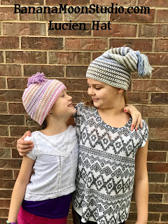 Slouchy hat crochet pattern by April Garwood of Banana Moon Studio