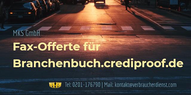 Titelbild: MKS GmbH | Fax-Offerte für Branchenbuch.crediproof.de