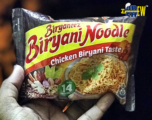 Biryaneez Biryani Noodles Review in Hand