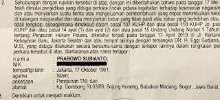 Benarkah Prabowo Jadi Tersangka?