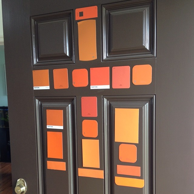 Picking an orange color for the front door