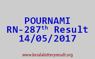 POURNAMI Lottery RN 287 Results 14-5-2017