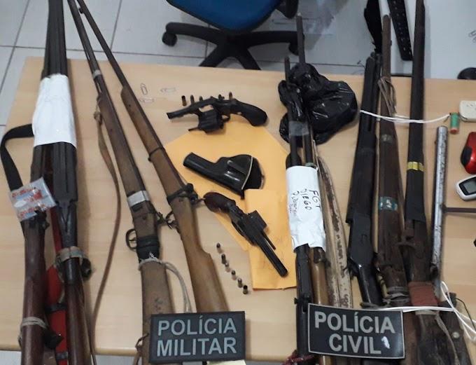 OPERAÇÃO STRIKE  NA CIDADE DE SANTA QUITÉRIA RESULTANDO NA PRISÃO DE (08) OITO PESSOAS, APREENSÃO DE 16 (DEZESSEIS) ARMAS DE FOGO E DROGAS