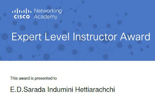 Cisco Expert Level Instructor Award - 2017