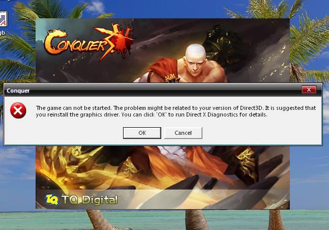 مدونة كونكر كويست حل مشكله تشغيل اللعبه بعد تسطيب ويندوز جديد