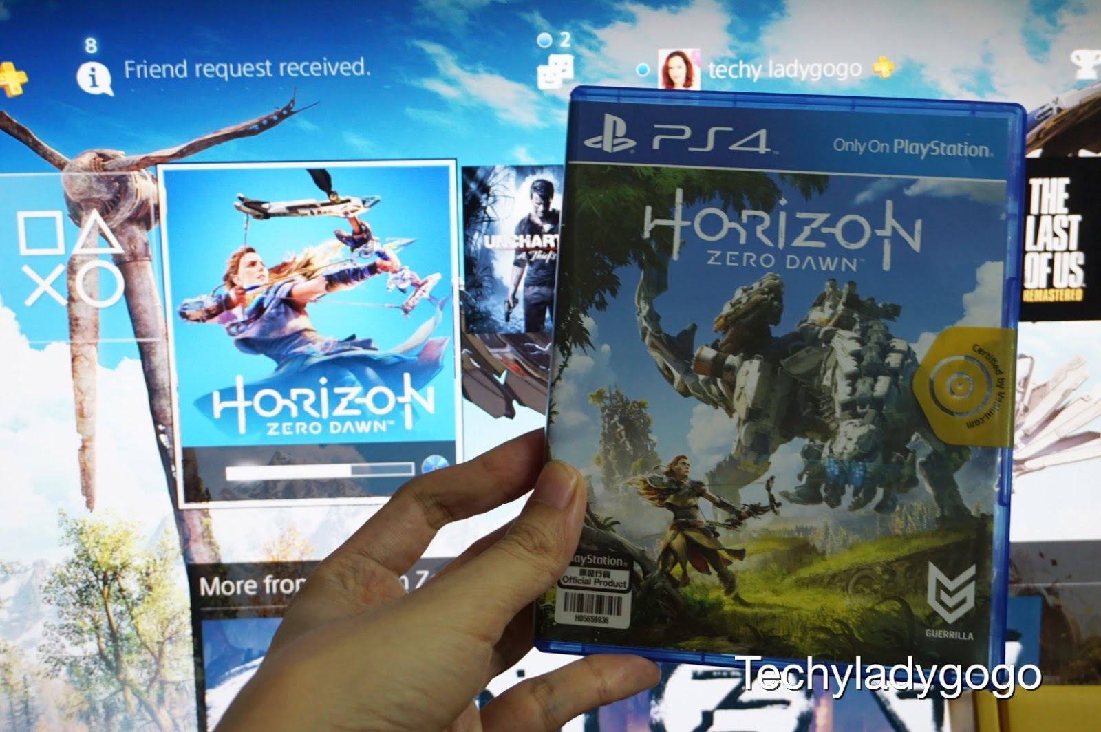 รีวิว แกะกล่อง horizon zero dawn สั่งแผ่นเกมมือสอง จากเว็บ VaaLuu.com gameXchange