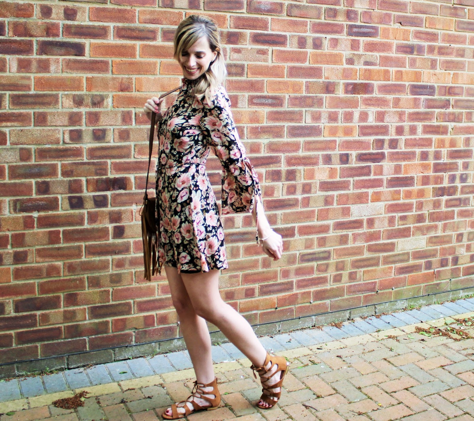 OOTD featuring a floral dress from Topshop and beaded bracelet from Lola Rose - 5