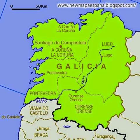 Galicia Mapa Region Politico Mapa Espana Politico Region