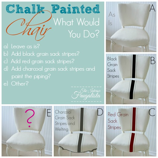Stripes or No Stripes on this chalk painted chair