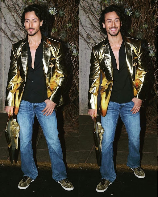 tiger shroff At Manish Malhotra's 50th Birthday Party