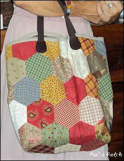 y cuero conoce poliester con en las figuras que como jardín el la se patchwork tiras abuela Bolso de de y n6xSw0HTx