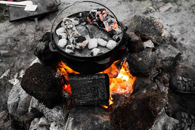 outdoor cooking pot on open fire outer hebrides isle of lewis island life beachside barbecue freckles and all blog western isles