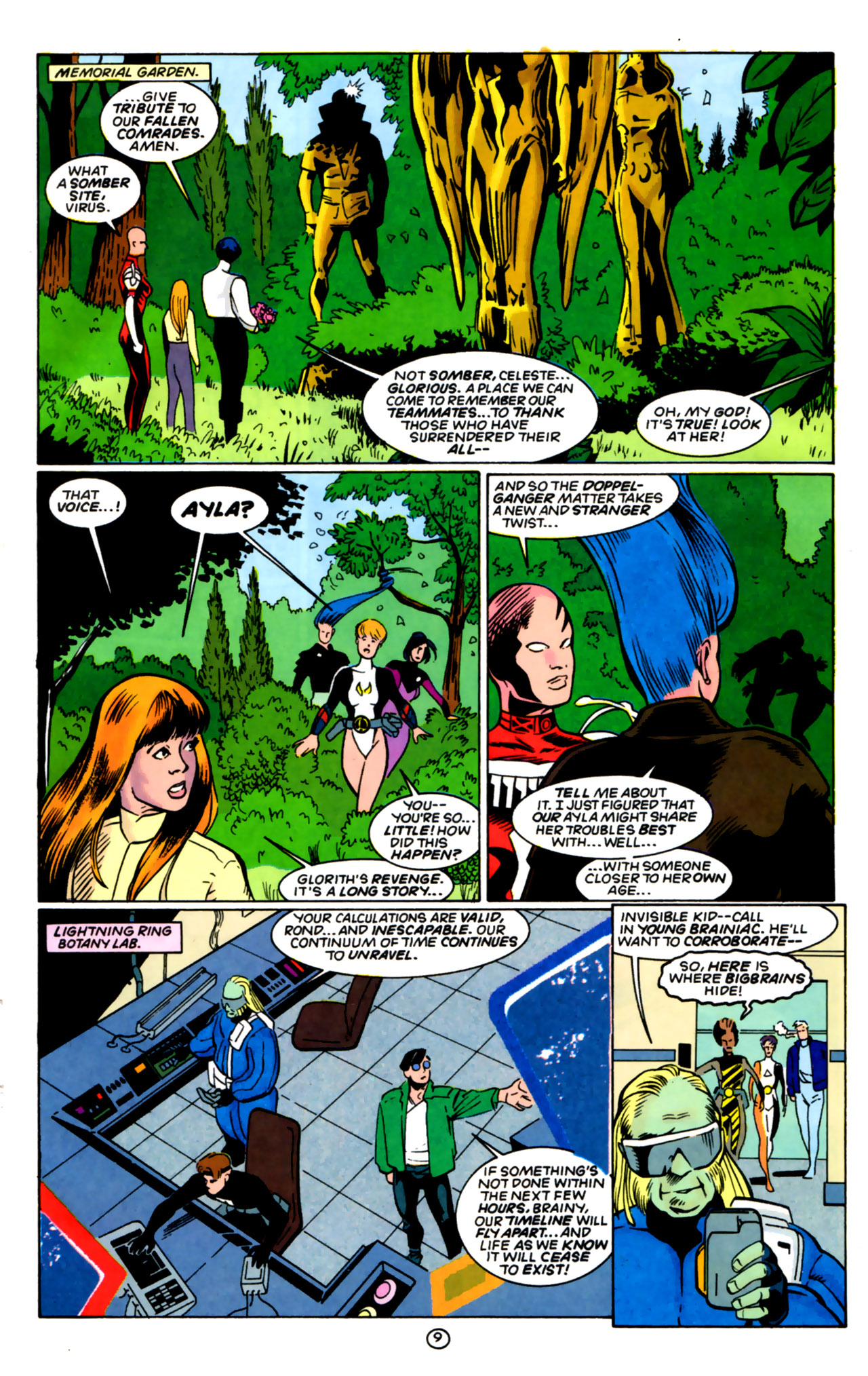 Legion of Super-Heroes (1989) 60 Page 9