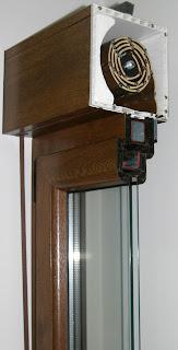 Corte transversal del cajón de una ventana