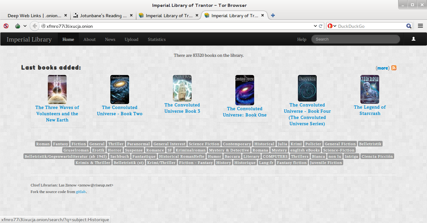 Sites de E-books e Livros na Deep Web