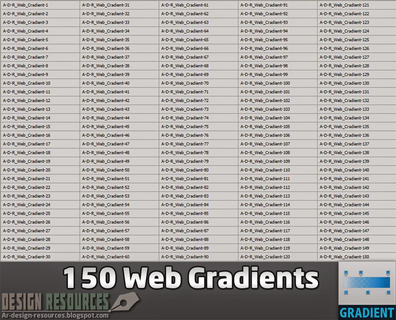 150 Web Gradients — Photoshop Add-ons