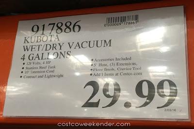 Deal for the Kuboto Wet/Dry Vacuum (model 54105)
