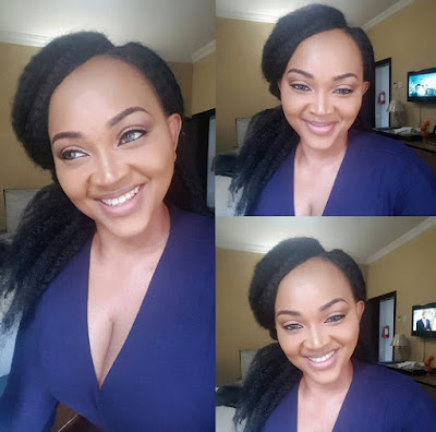 mercy aigbe breast baring outfit