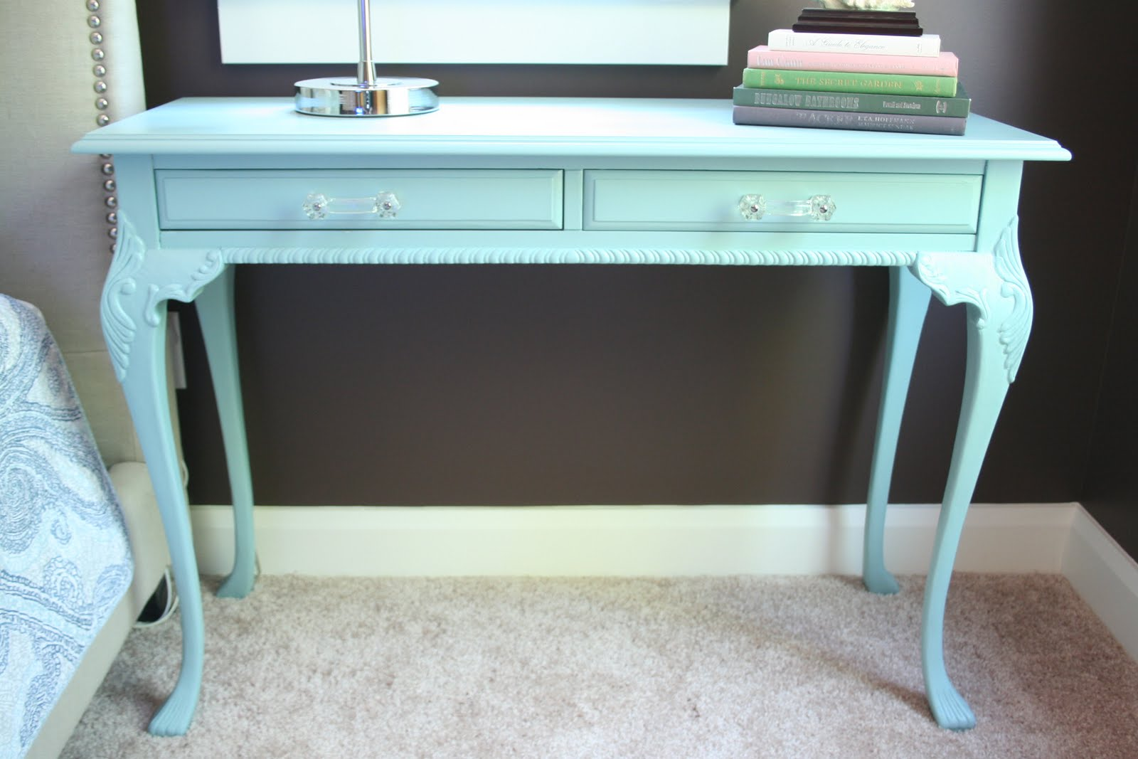 I'm Busy Procrastinating: Bedroom update: Writing desk before & after