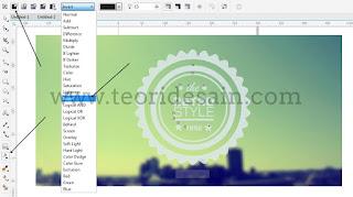 Cara Membuat Logo Retro Vintage Blurred Menggunakan CorelDRAW16