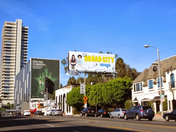 Broad City billboard Sunset Strip