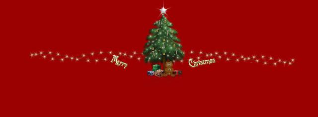 Merry Christmas Tree FB cover photo