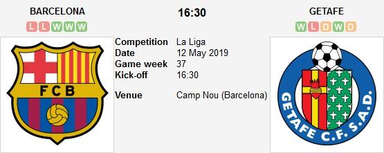barcelona vs getafe live