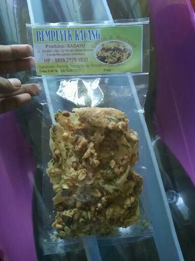 Rempeyek Kacang Sabayu Gurih dan Renyah Dari Kota Curup