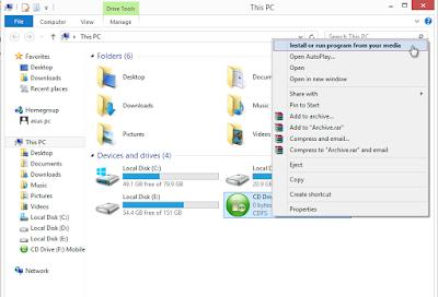 cara instal modem di windows 8