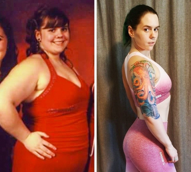 21 Before And After Photos Of People Who Managed To Lose Weight and Begin A Brand New Life - It took six long years for this woman to get rid of an extra 100lb.