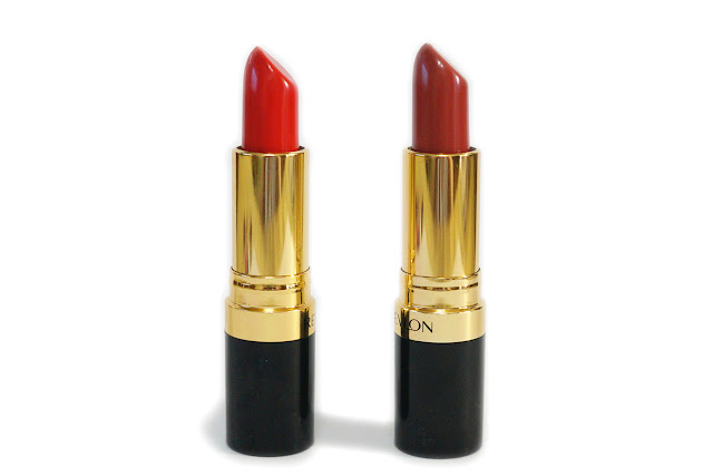 Revlon Super Lustrous Lipsticks in 225 Rosewine and 720 Fire and Ice