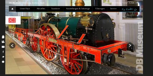 Die Website des DB Museums Nürnberg.