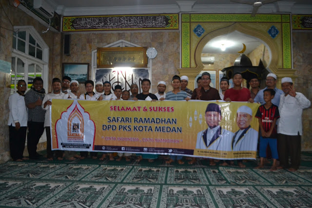 DPD PKS Kota Medan Safari Ramadhan ke Mesjid Salsabila Medan Tuntungan
