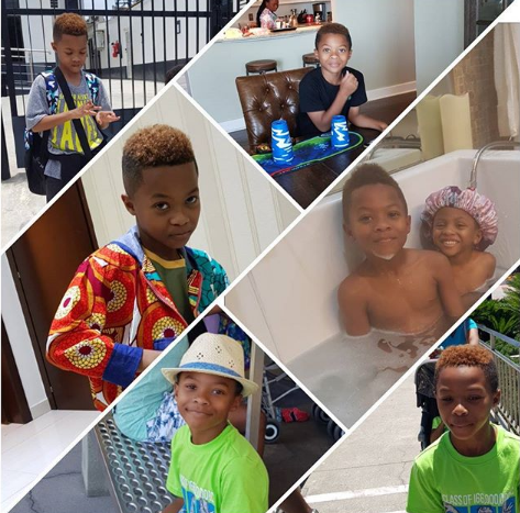 Lola Omotayo And Peter Okoye Celebrate Their Son Cameron As He Turns 9 Today
