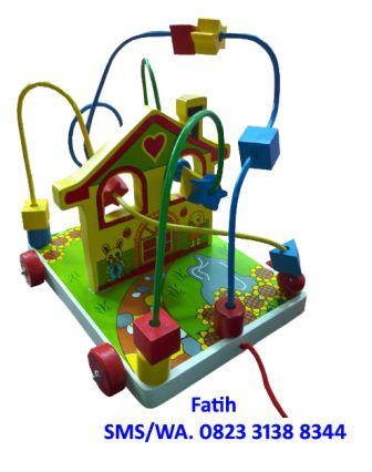 Mainan Kayu Wire Game Rumah