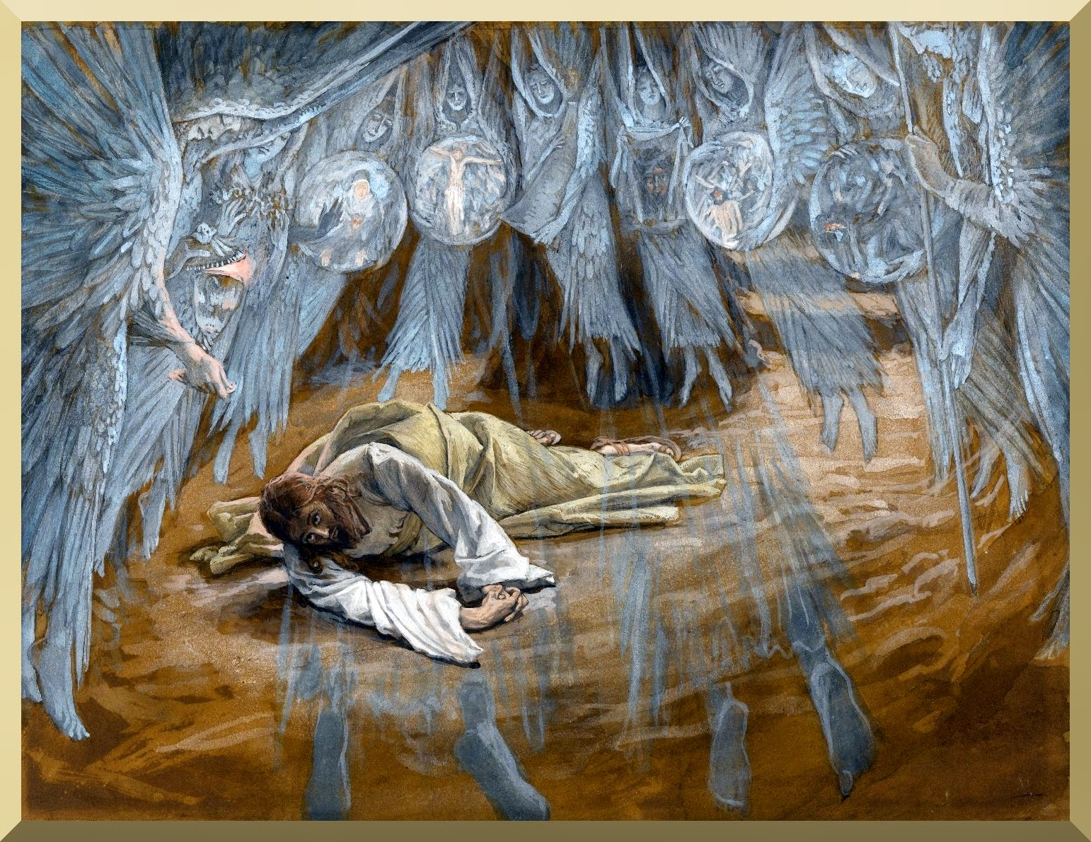 """The Grotto of the Agony"" -- by James Tissot"