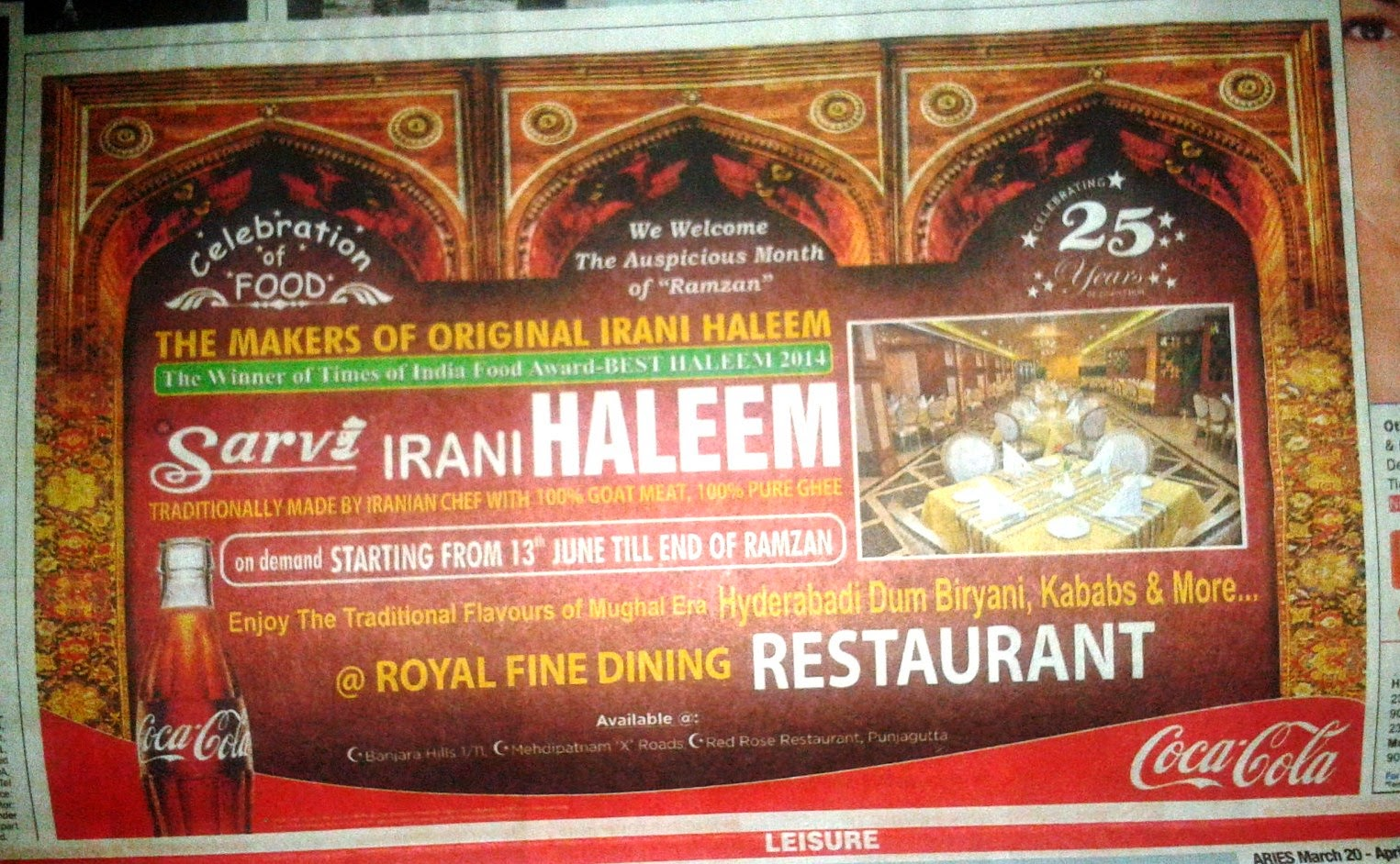 Foodaholix Sarvi haleem advertisement