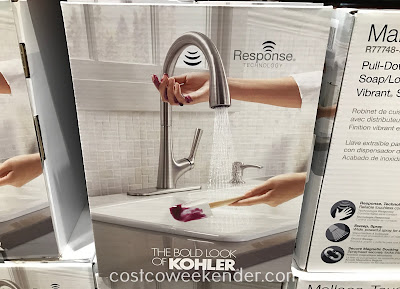 Outfit your kitchen sink with the convenient Kohler Malleco Touchless Pull Down Kitchen Faucet