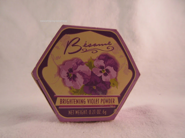 Besame Brightening Violet Powder  Box