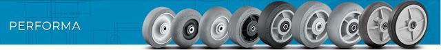 Bánh xe đẩy cao su đặc Colson phi 150 chịu lực 270kg | 4-6108-459