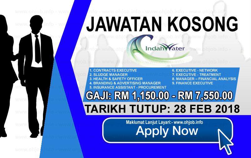 Jawatan Kerja Kosong Indah Water Konsortium - IWK logo www.ohjob.info februari 2018