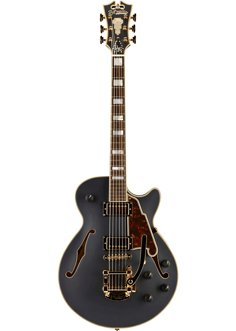 Harga Gitar D'Angelico Deluxe Series Bob Weir SS Limited Edition Signed Semi-Hollowbody Guitar with Custom Seymour Duncan Pickups and Bigsby B-50 Ebony dengan Review dan Spesifikasi 2018
