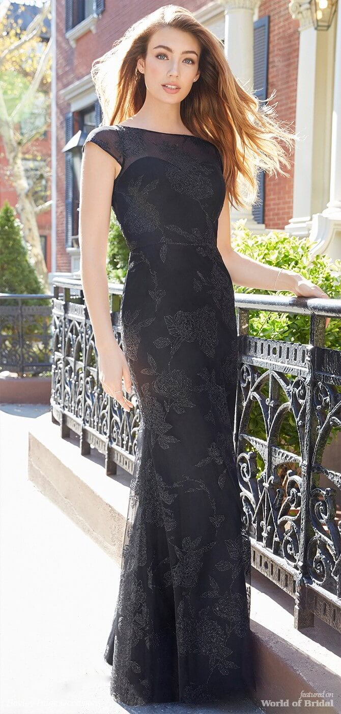 Hayley Paige Occasions Spring 2018 Black caviar A-line bridesmaid gown