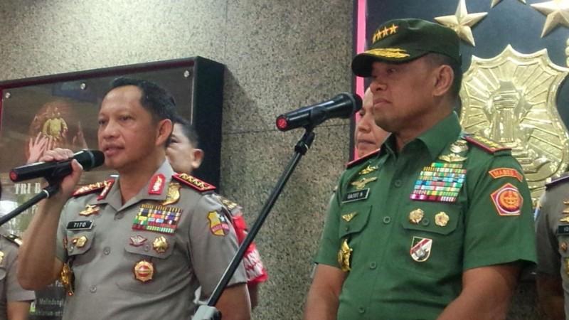 Kapolri Jenderal Tito Karnavian dan Panglima TNI Jenderal Gatot Nurmantyo