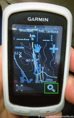 Seleccionar opción Buscar en mapa, cargar ruta en Garmin
