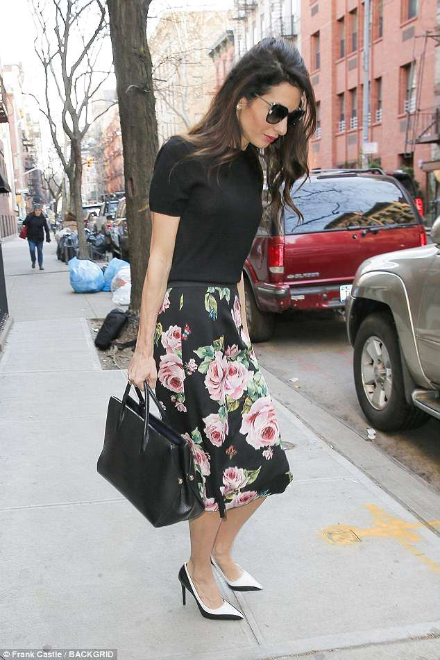 Amal Clooney Blossoms In Dolce & Gabbana's Floral Print